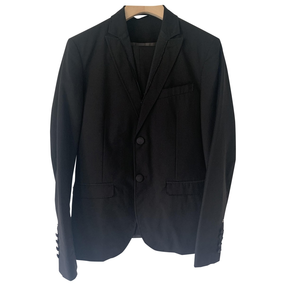 Costume National \N Black Wool Suits for Men 50 IT
