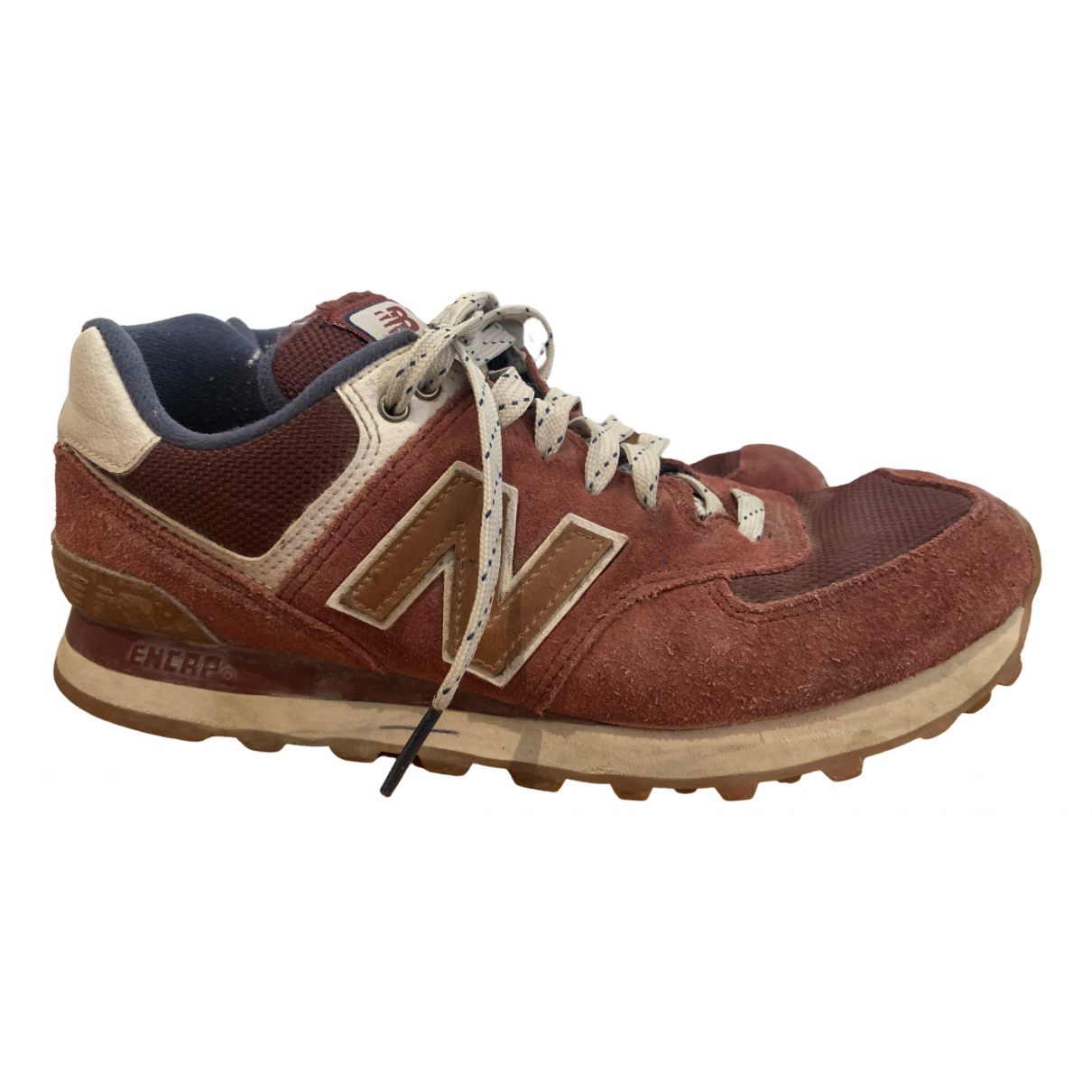 New Balance N Burgundy Suede Trainers for Men 39.5 EU