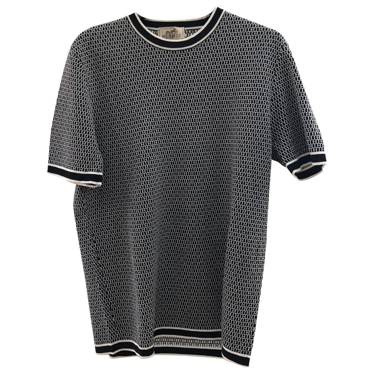 Hermes \N T-Shirts in  Marine Baumwolle