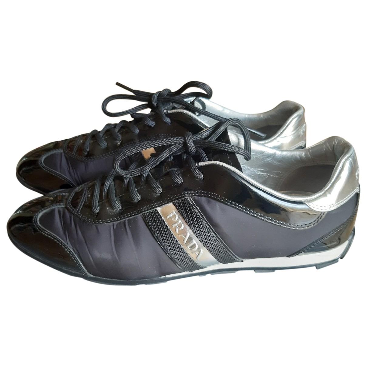 Prada \N Black Cloth Trainers for Women 39.5 EU