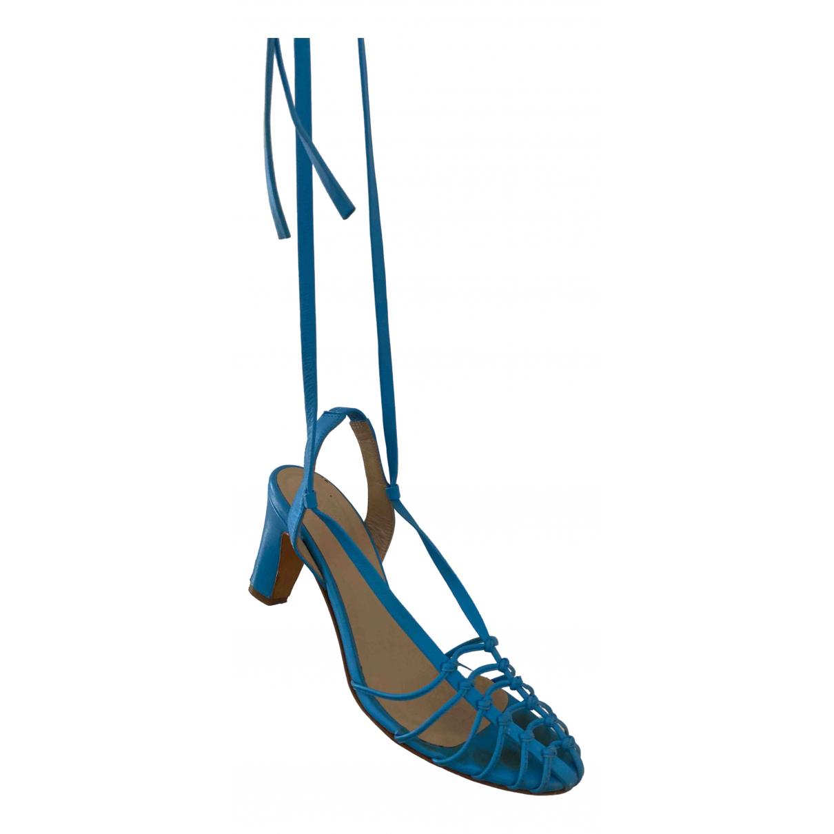 Maryam Nassir Zadeh \N Sandalen in  Blau Leder