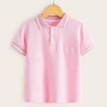 Toddler Boys Pocket Front Polo Shirt