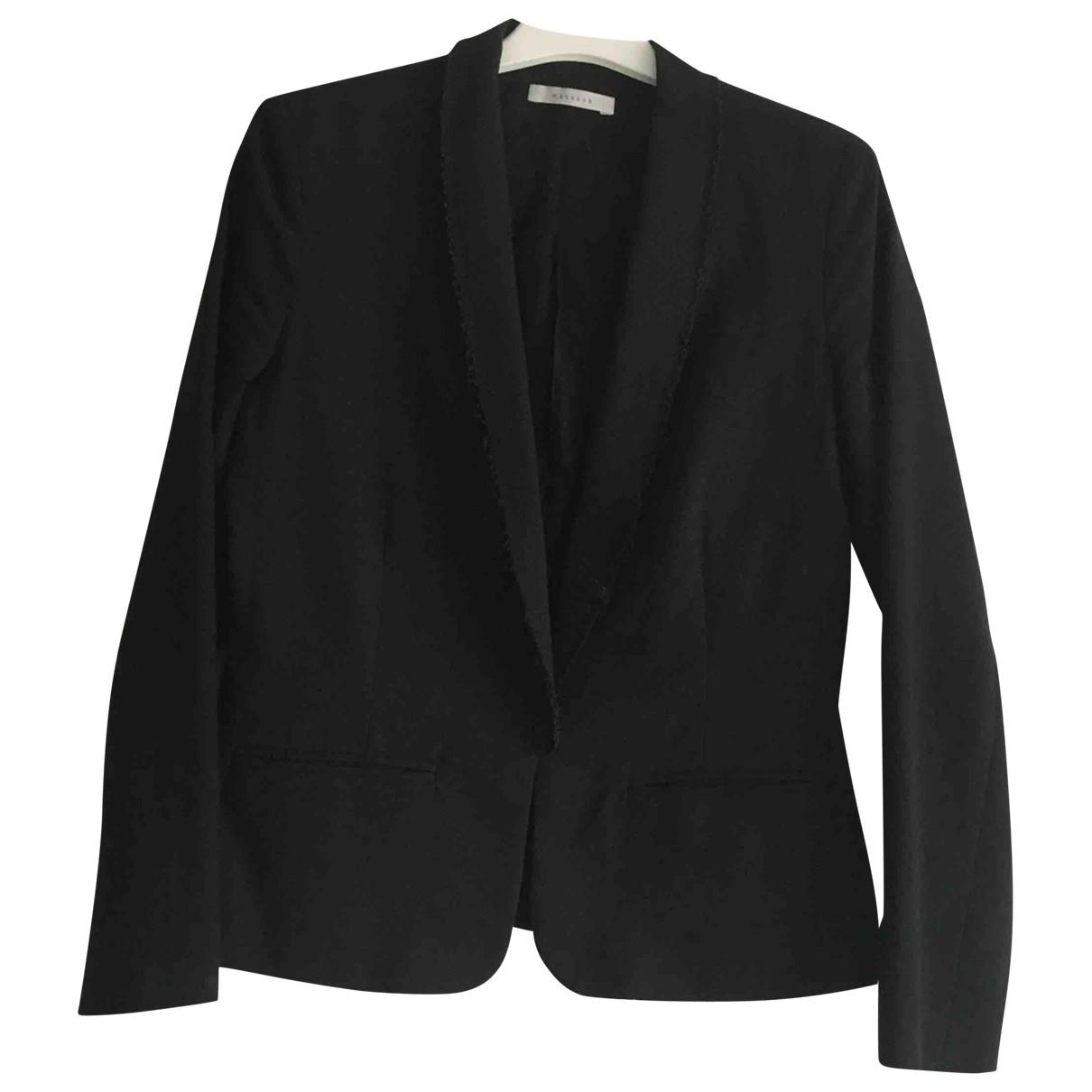 Masscob \N Black Cotton jacket for Women 36 FR