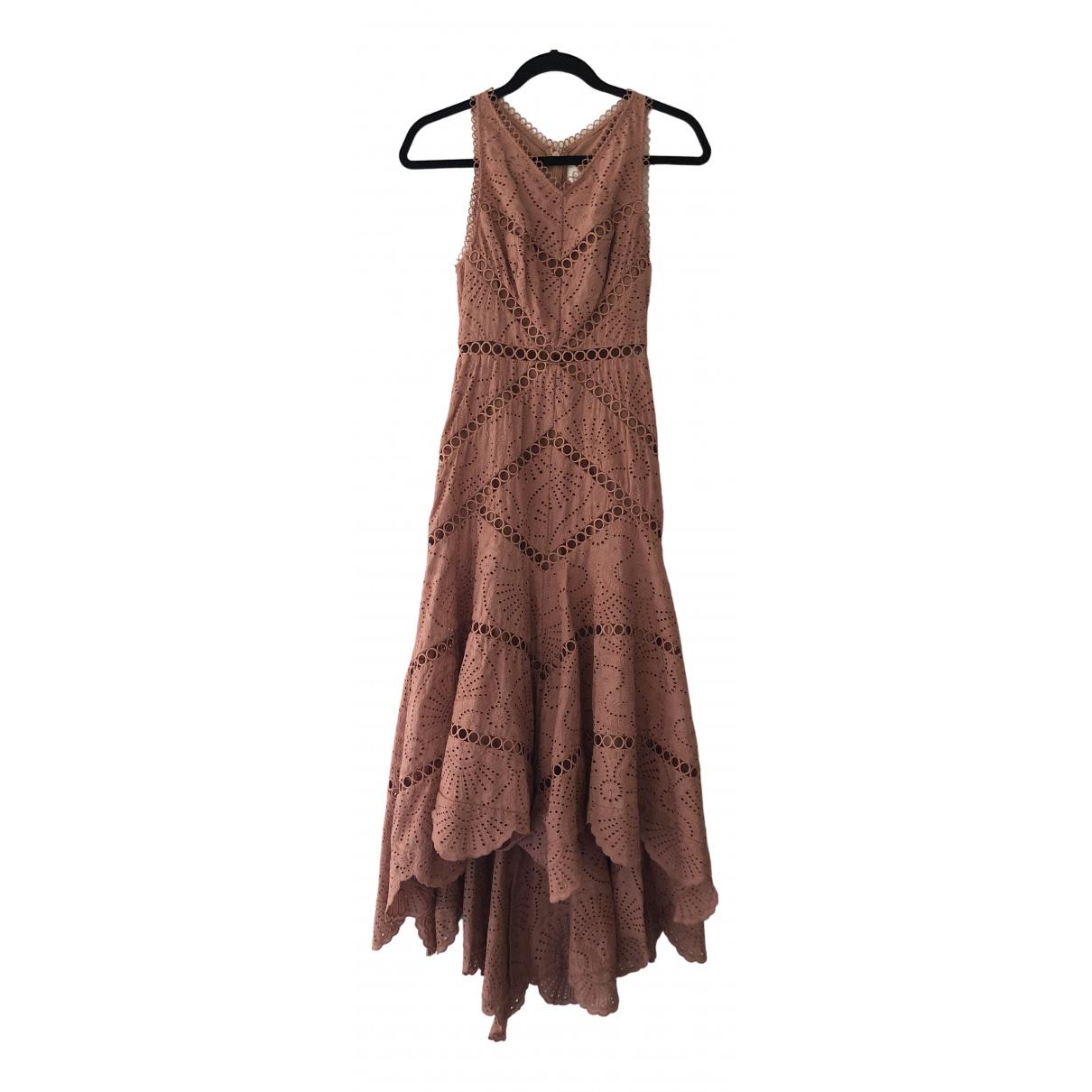 Zimmermann \N Pink Cotton dress for Women 0 0-5