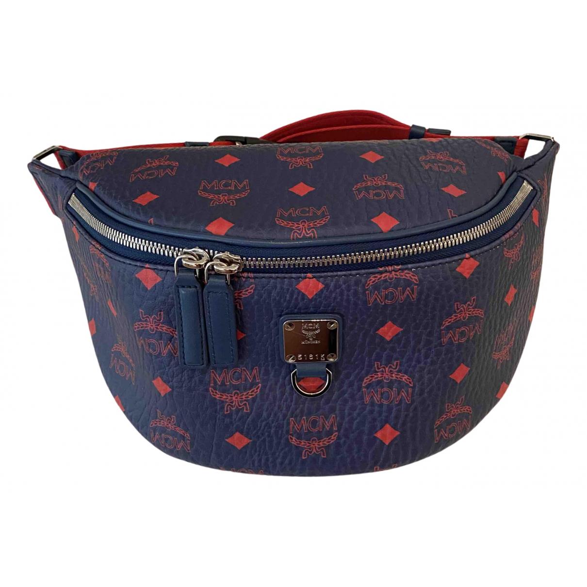 Mcm \N Taschen in  Blau Leder