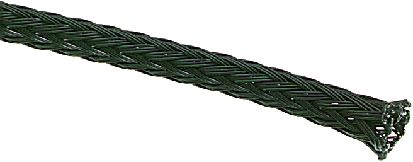 SES Sterling Expandable Braided PET Black Cable Sleeve, 28mm Diameter, 25m Length