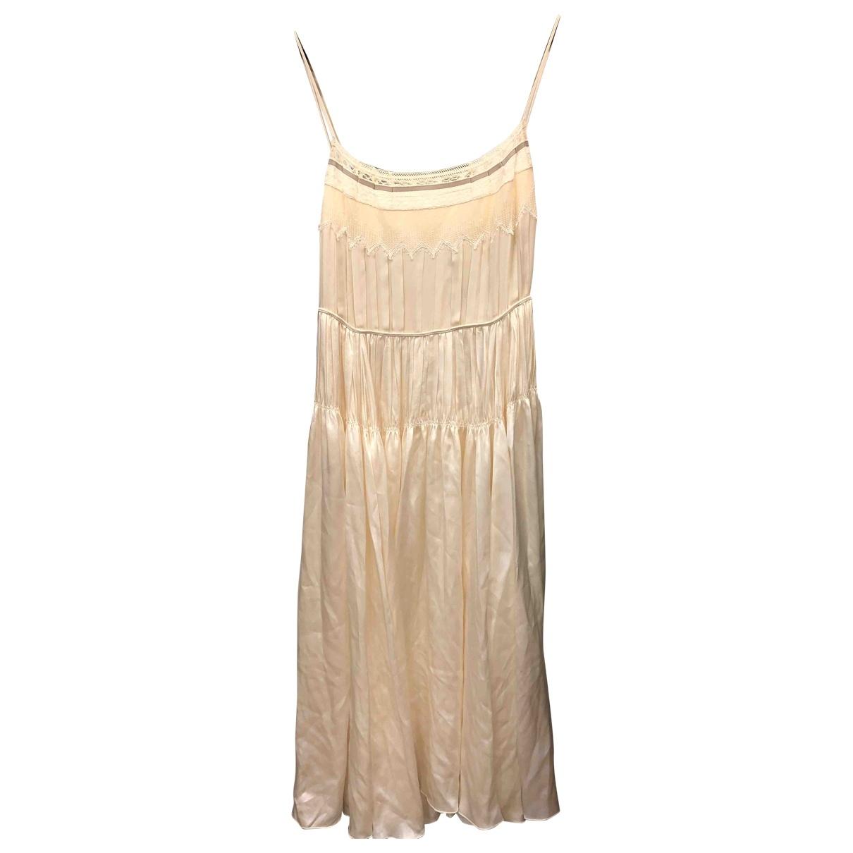Chloé \N White Silk dress for Women 36 FR