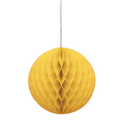 Honeycomb Paper Ball for Party Decoration 8'' - Sunflower Yellow