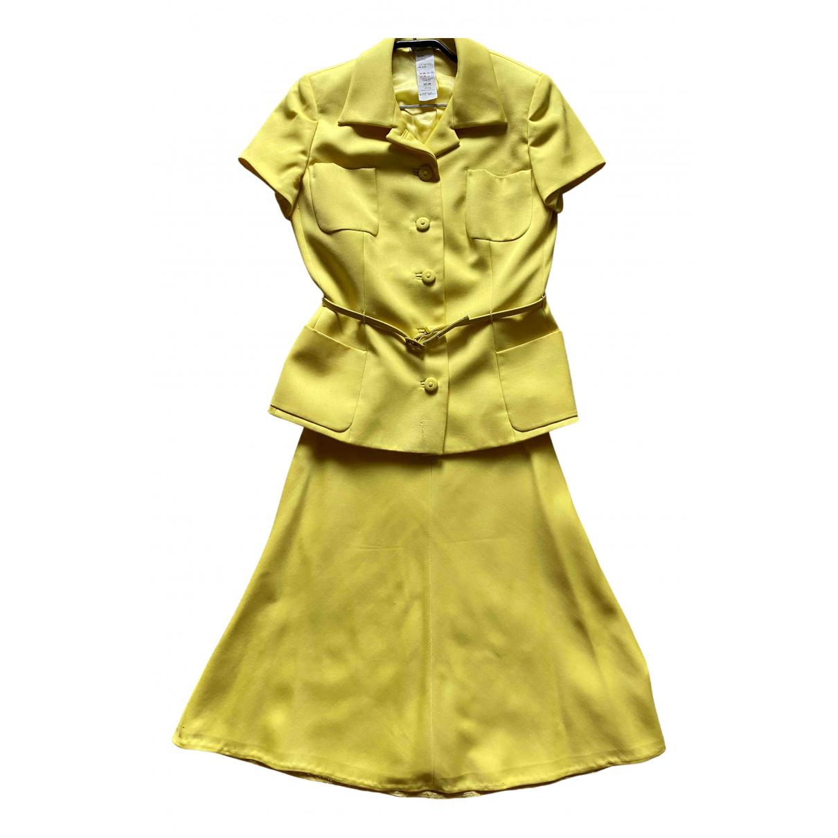 Gianni Versace - Veste   pour femme en laine - jaune