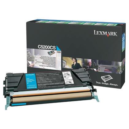 Lexmark C5200CS Original Cyan Return Program Toner Cartridge