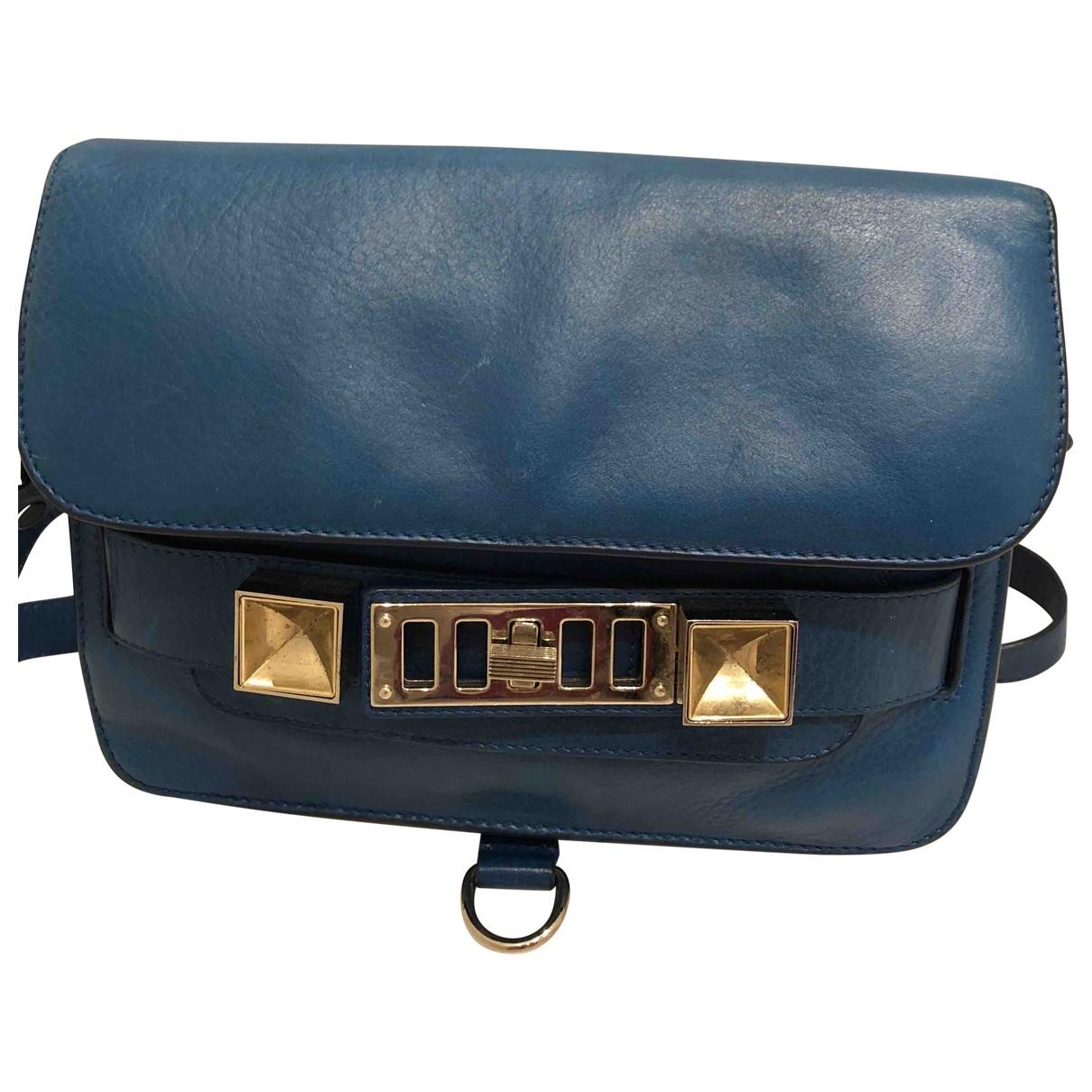 Proenza Schouler PS11 Blue Leather handbag for Women \N