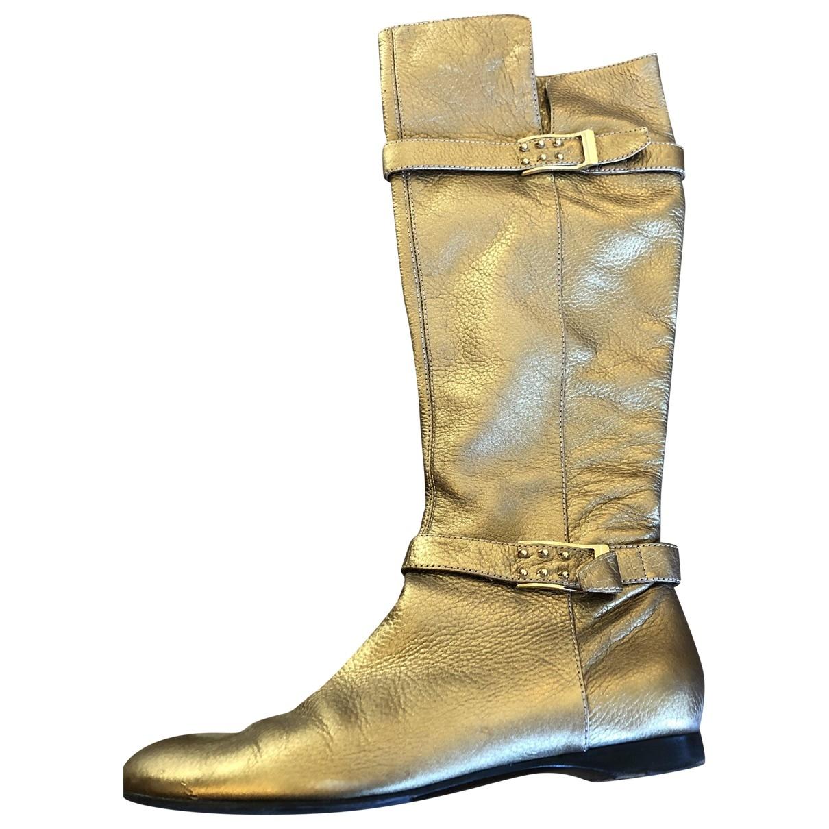 Casadei \N Stiefel in  Metallic Leder
