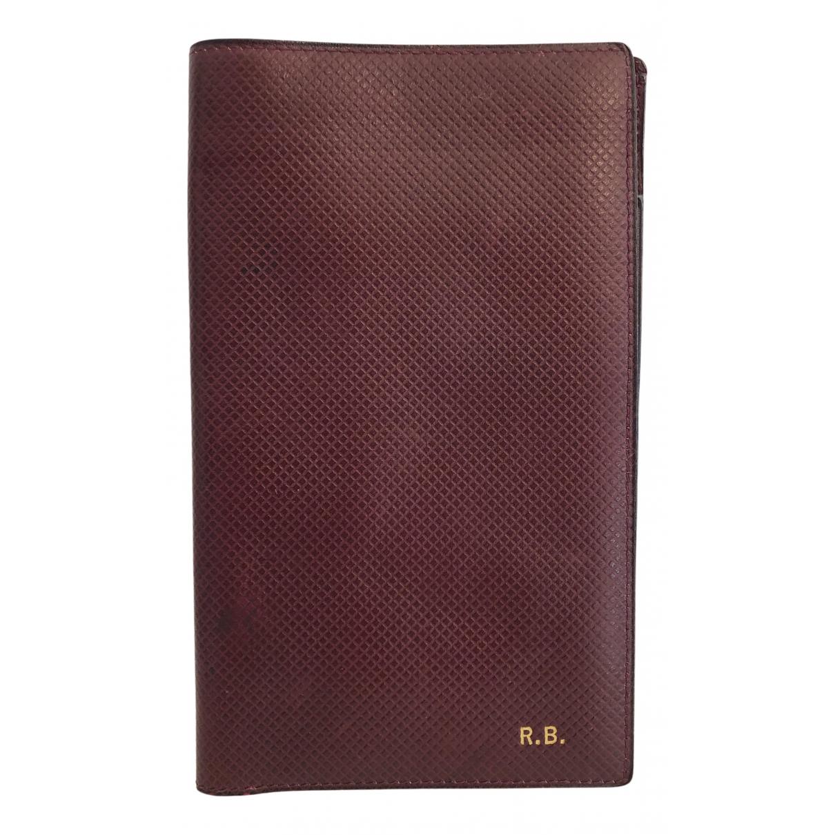 Gucci - Petite maroquinerie   pour homme en cuir - bordeaux
