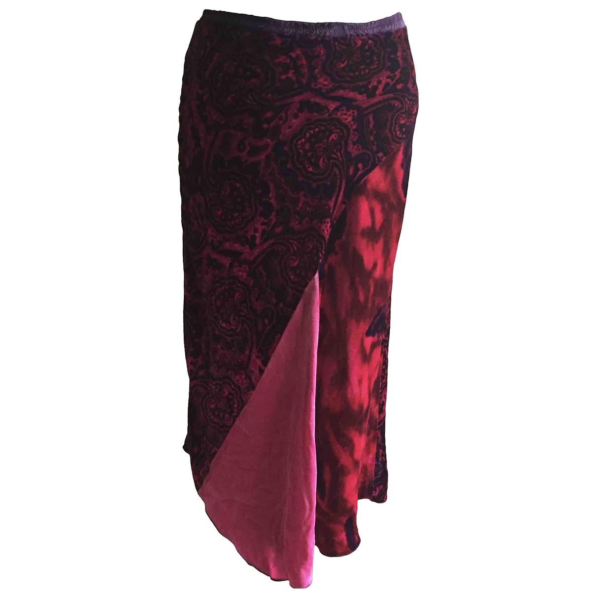 Pinko \N Red Velvet skirt for Women 42 IT