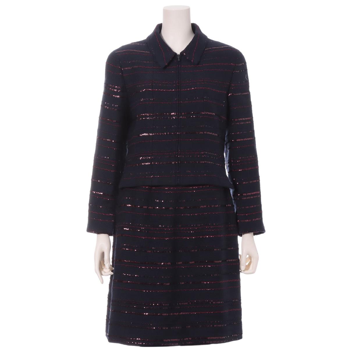 Chanel N Navy Tweed  top for Women 40 FR