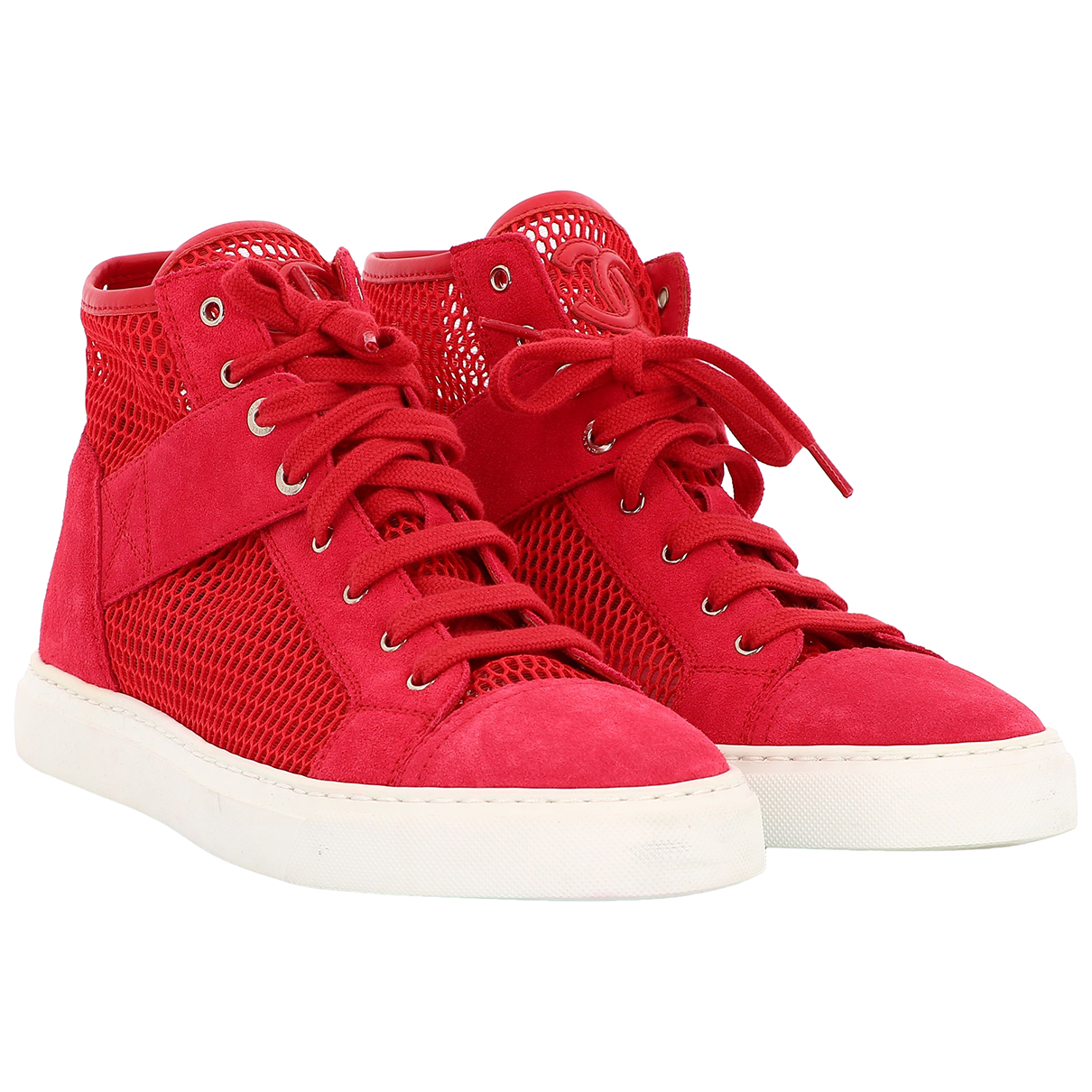 Chanel \N Sneakers in  Rot Veloursleder