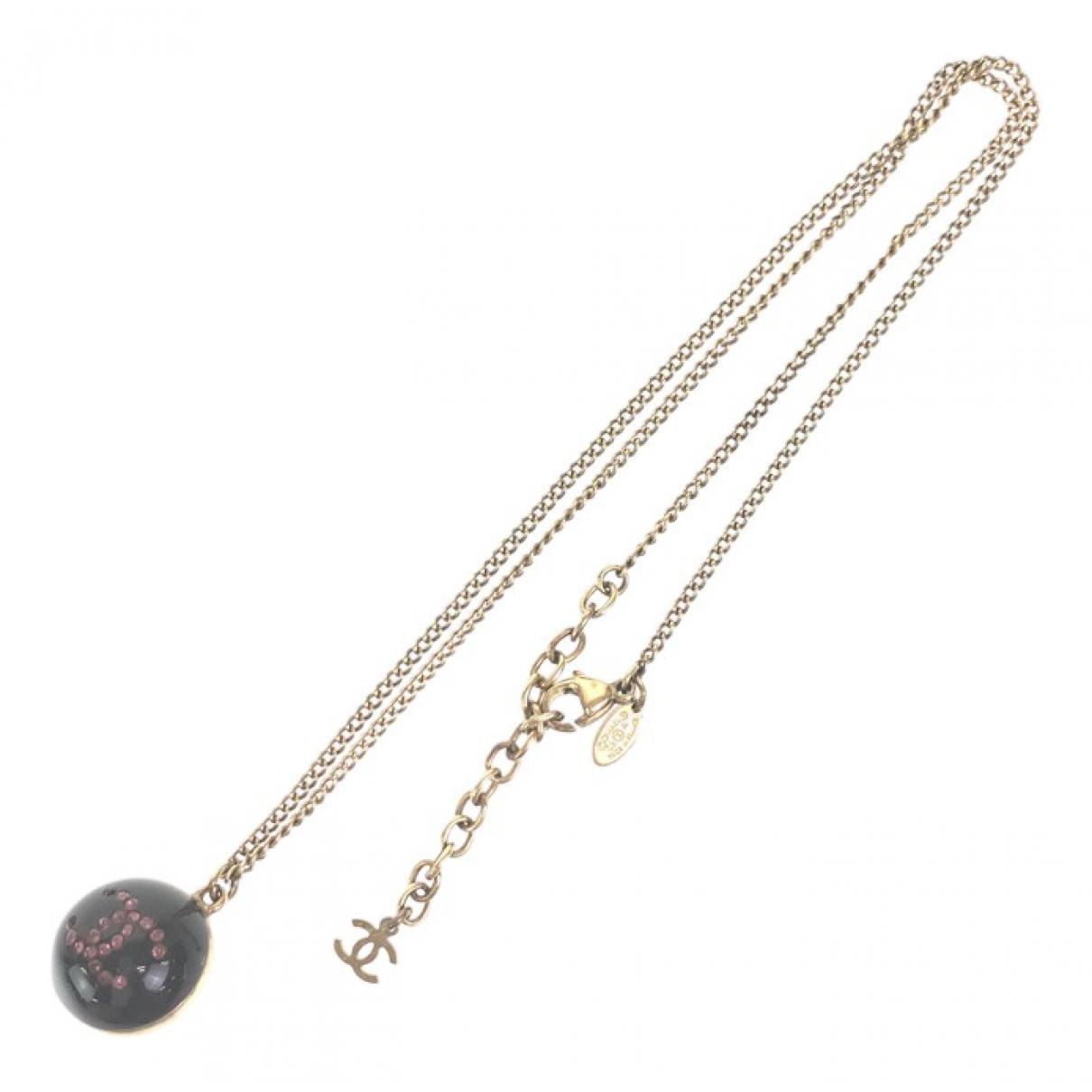 Chanel CC Kette in  Schwarz Metall