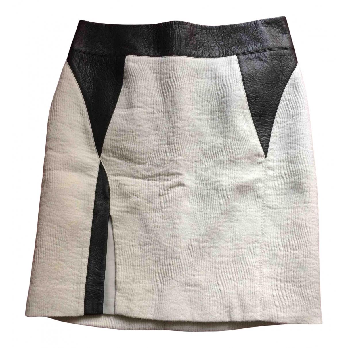 Helmut Lang - Jupe   pour femme en laine - gris