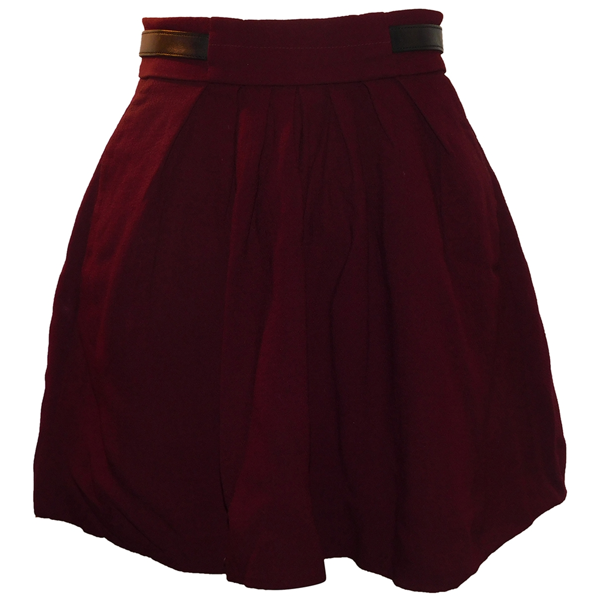 The Kooples \N Burgundy Cotton skirt for Women 34 FR