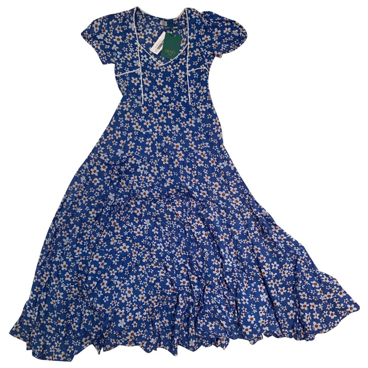 Rixo N Blue Cotton dress for Women XXS International