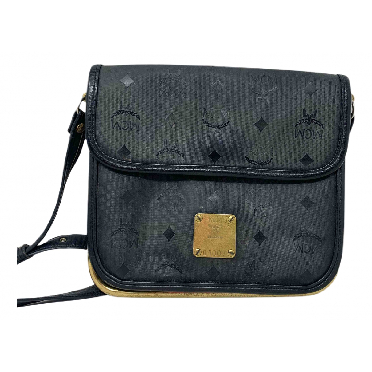 Mcm \N Handtasche in  Schwarz Leder