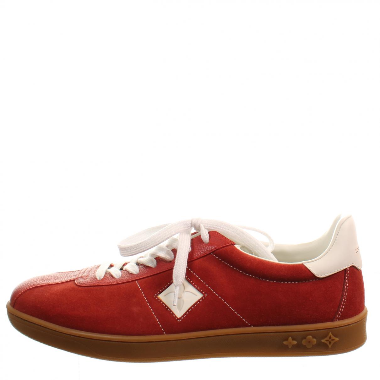 Louis Vuitton \N Sneakers in  Rot Veloursleder