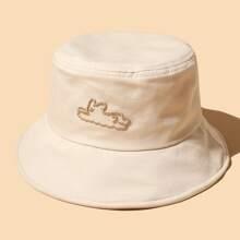 Sombrero cubo con bordado de perro