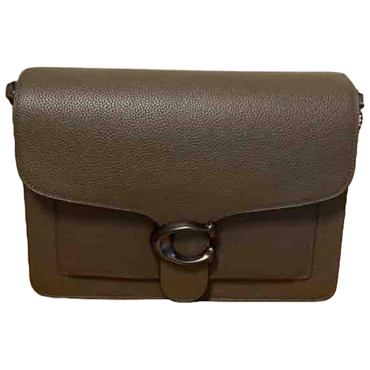Coach \N Handtasche in  Khaki Leder