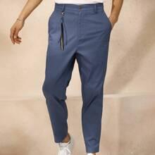 Pantalones para hombre Boton Liso Trabajo