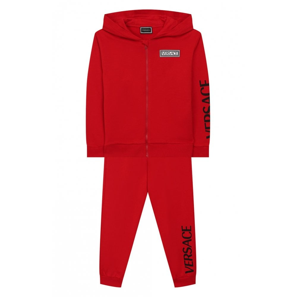 Versace Cotton Tracksuit Size: 5 YEARS, Colour: RED