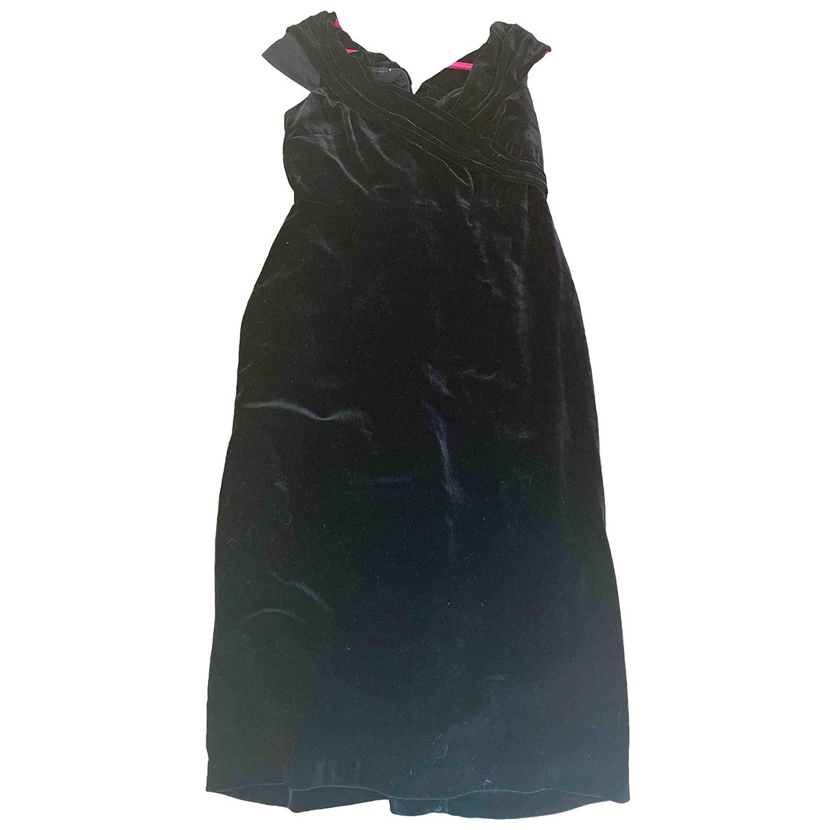 Donna Karan \N Black Velvet dress for Women 8 US