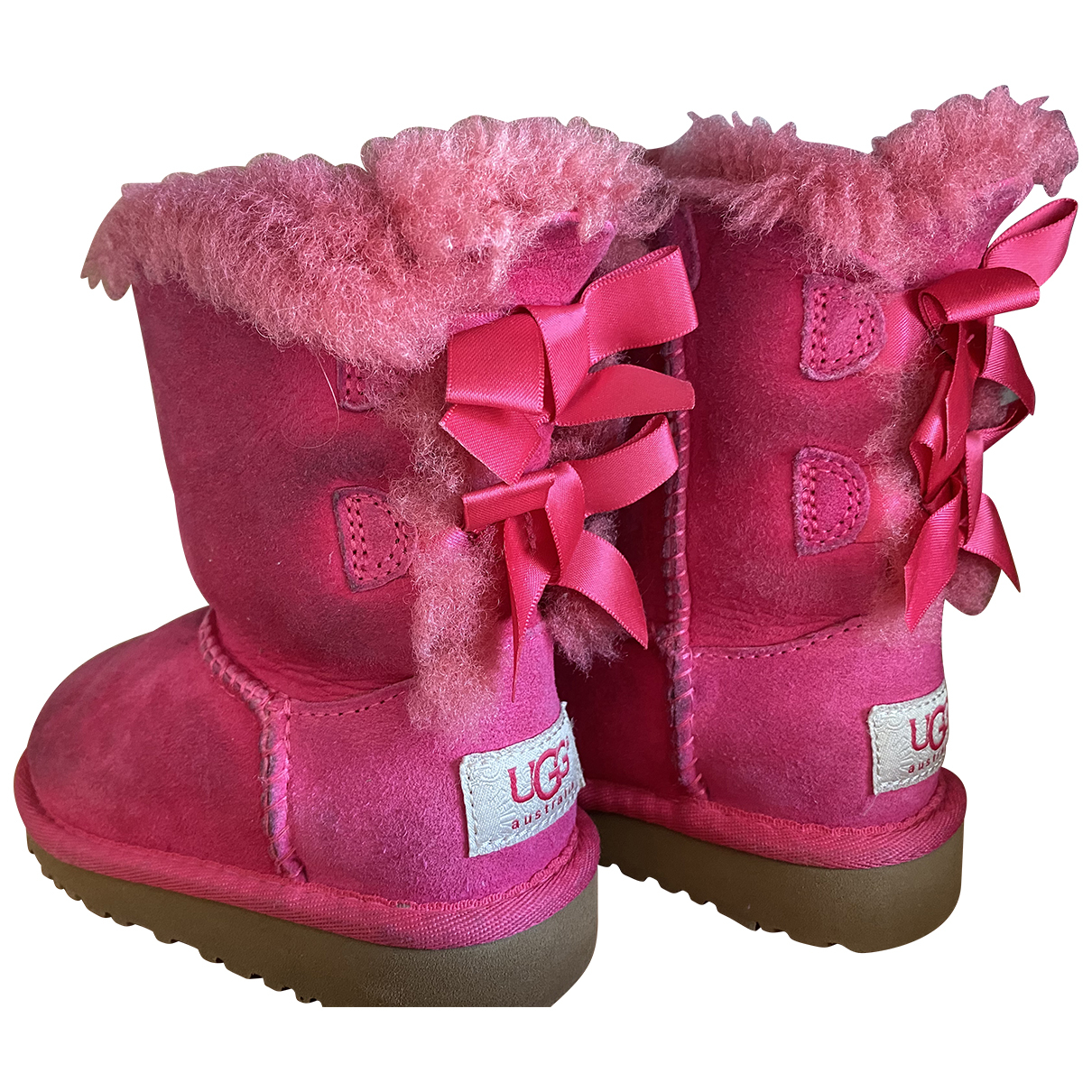 Ugg \N Pink Suede Boots for Kids 6 UK