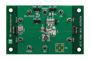 ON Semiconductor NCP6334GEVB Synchronous Buck Converter Evaluation Board Buck Converter for NCP6334BMTAATBG,