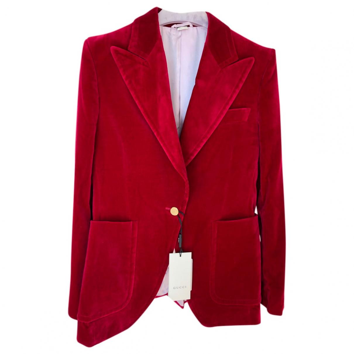 Gucci \N Red Velvet jacket for Women 42 IT