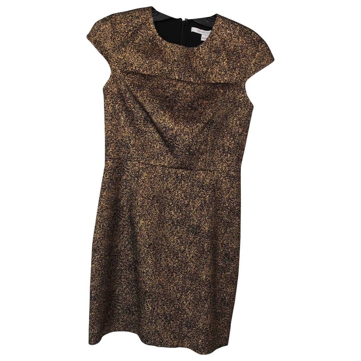 Diane Von Furstenberg \N Gold dress for Women 4 US