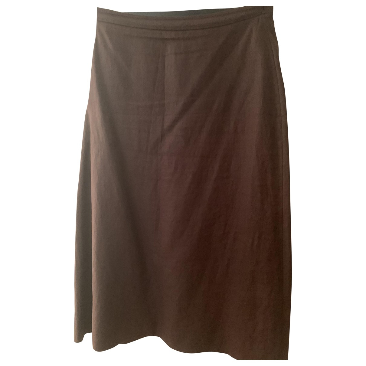 Non Signé / Unsigned \N Brown Cotton skirt for Women 16 UK