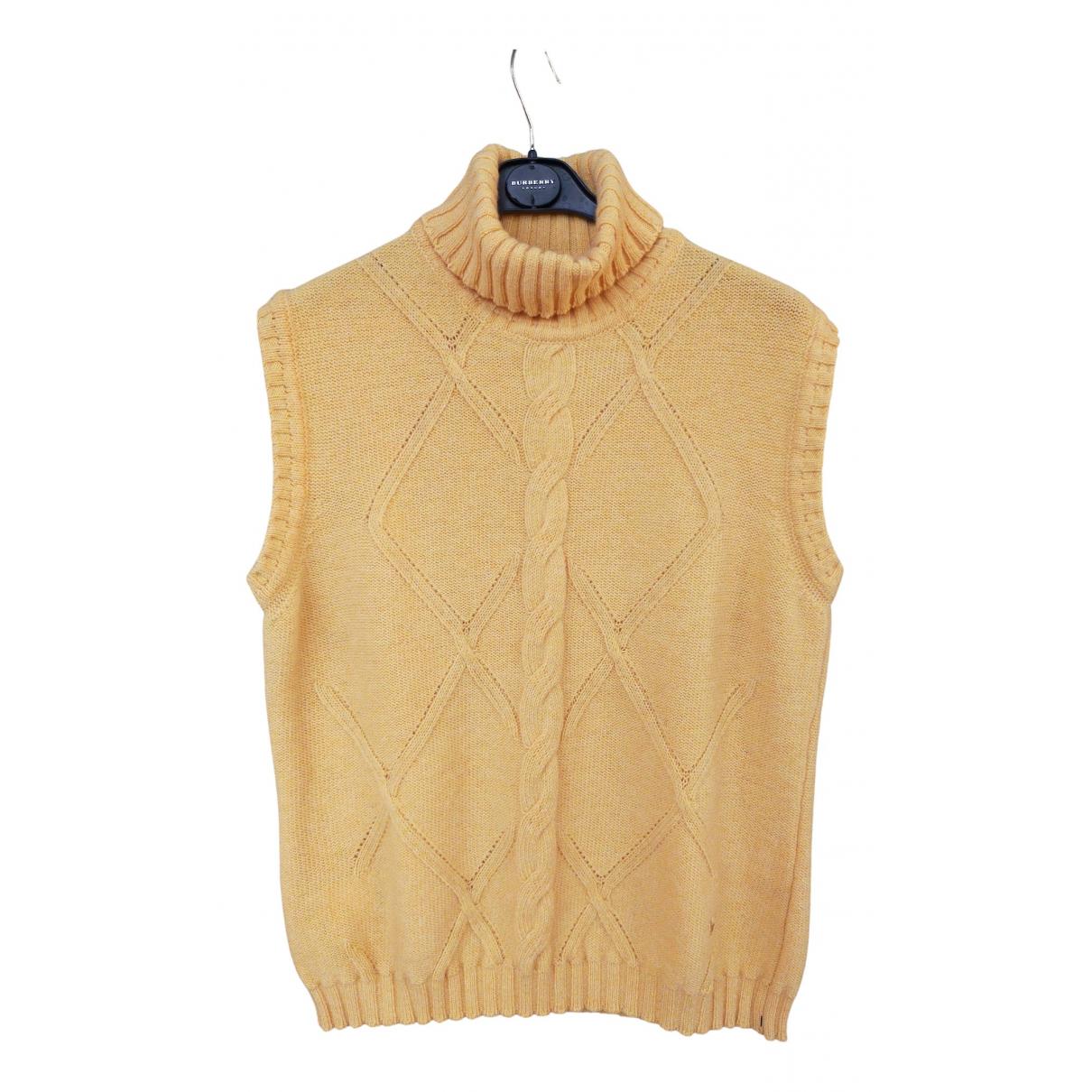 Burberry N Yellow Wool Knitwear for Women 48 FR