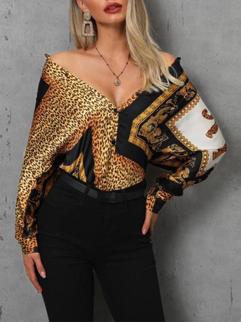 Ericdress Standard Women's Slim Long Sleeve Blouse