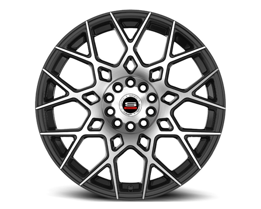 Spec-1 SP-52 Wheel Racing Series 18x8 5x100|5x114.3 38mm Gloss Black Machined