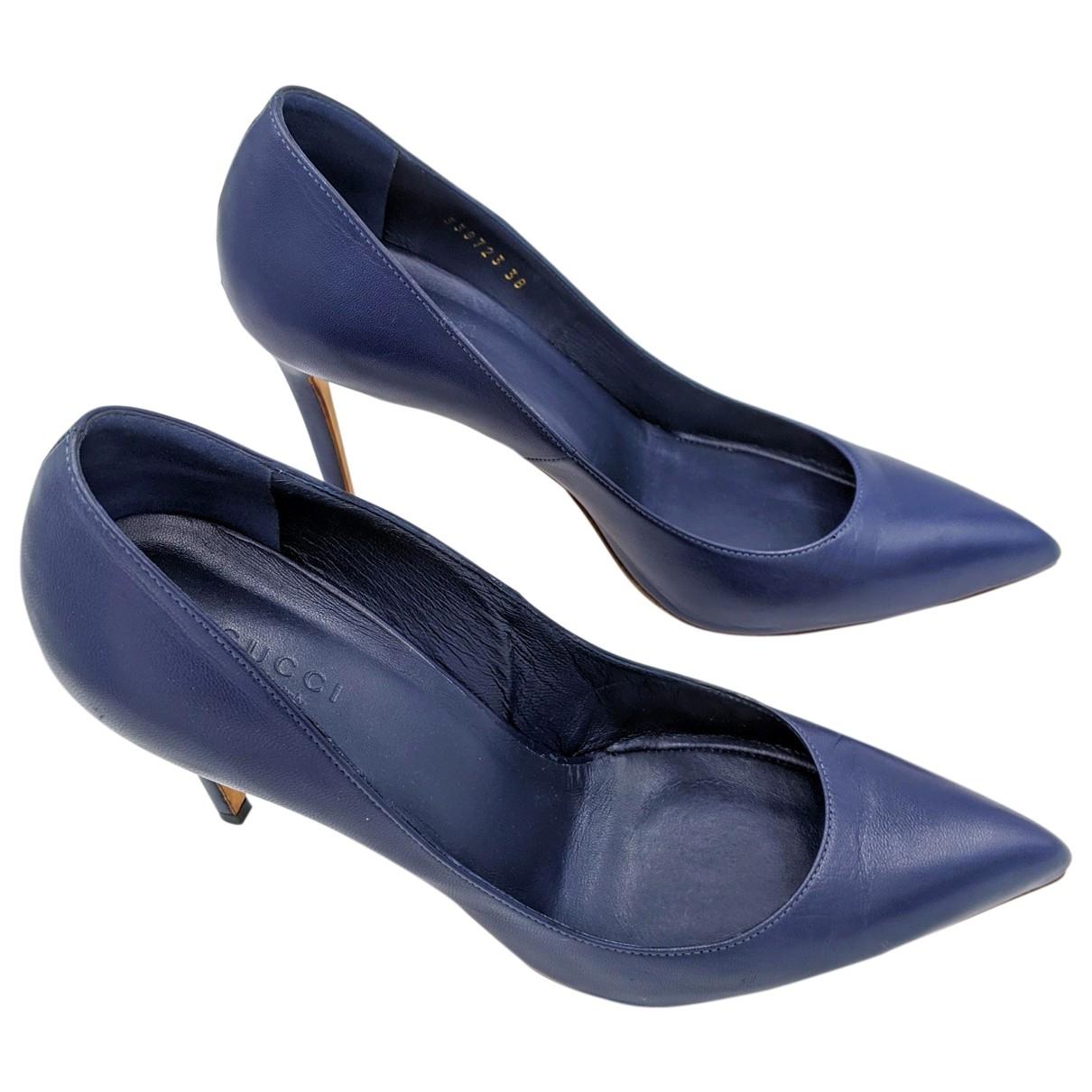 Gucci \N Pumps in  Blau Leder