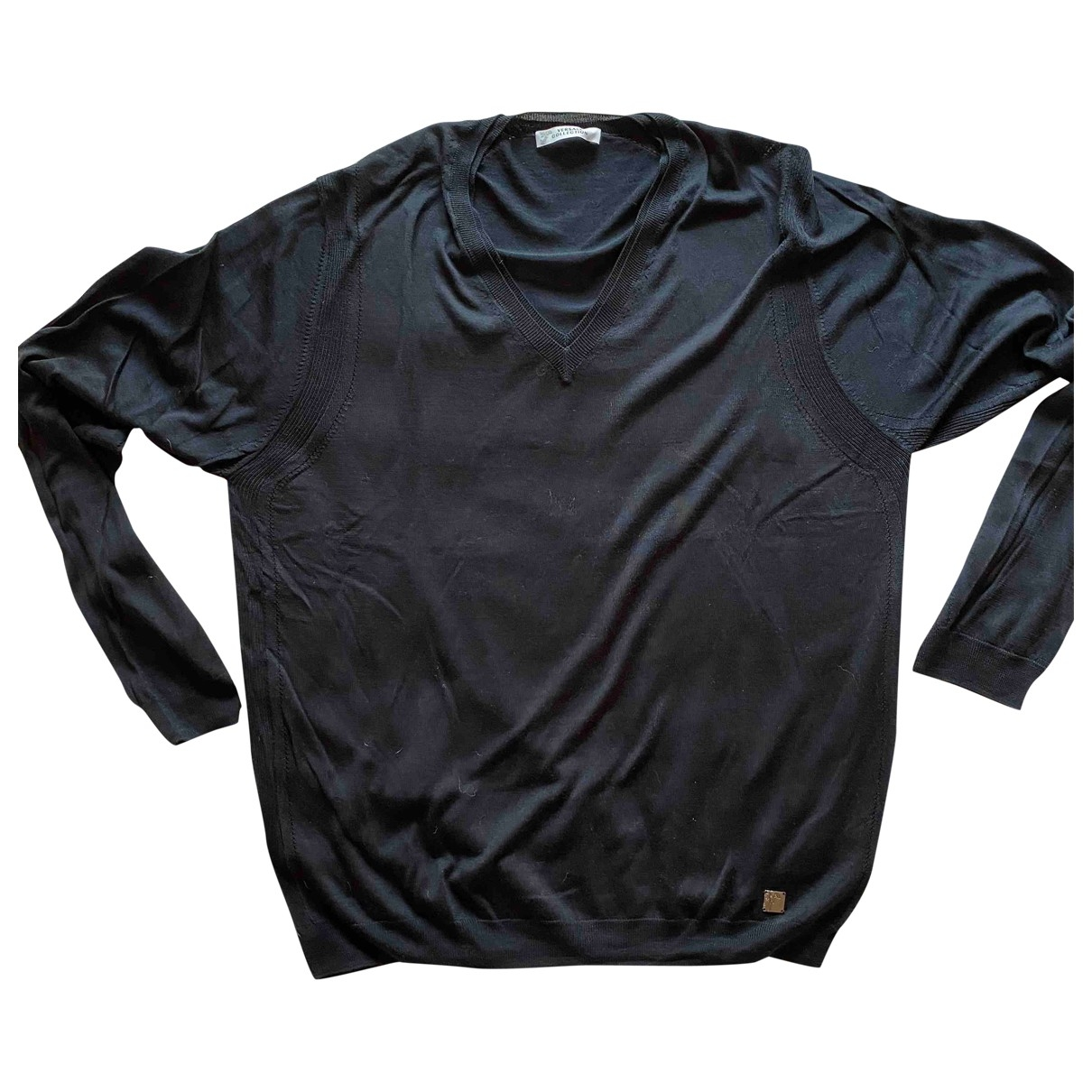 Versace \N Pullover.Westen.Sweatshirts  in  Schwarz Seide