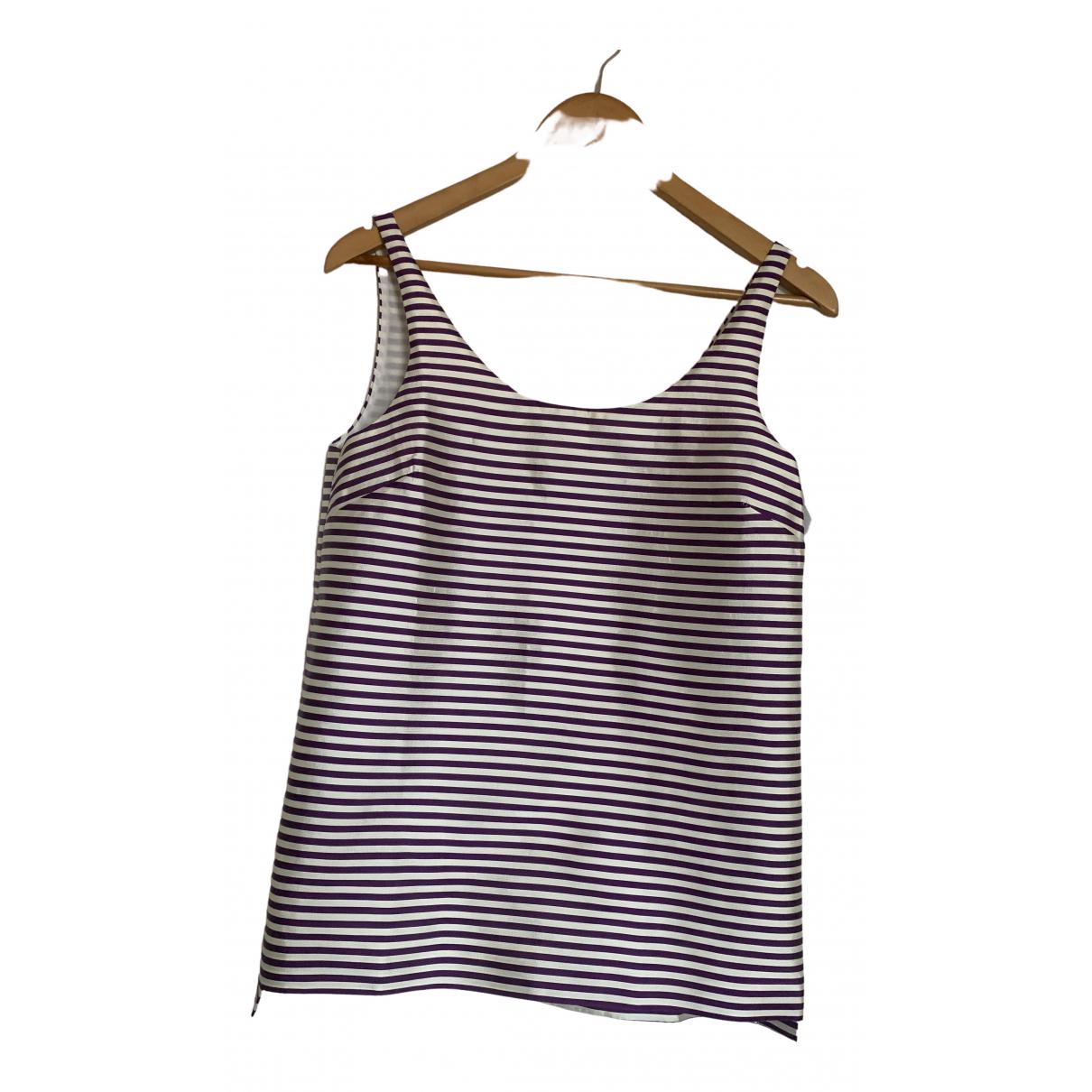 Calvin Klein - Top   pour femme en soie - violet