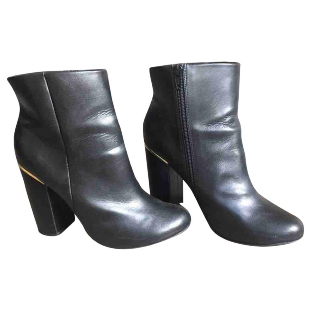 Kurt Geiger \N Black Leather Ankle boots for Women 39 EU