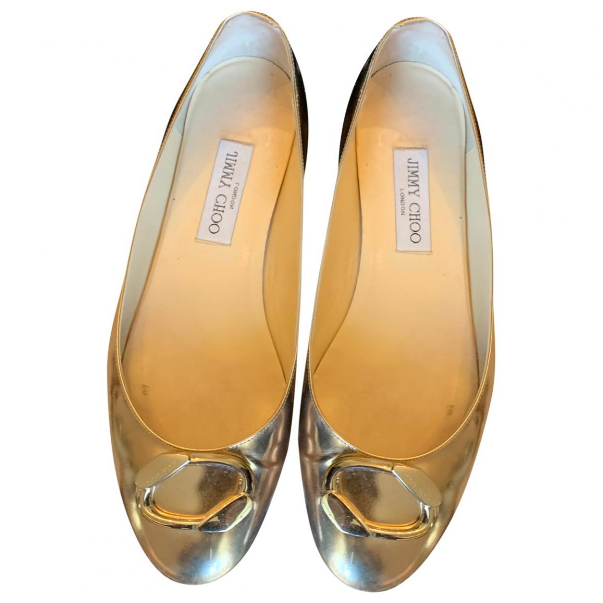 Jimmy Choo \N Silver Leather Ballet flats for Women 41 EU