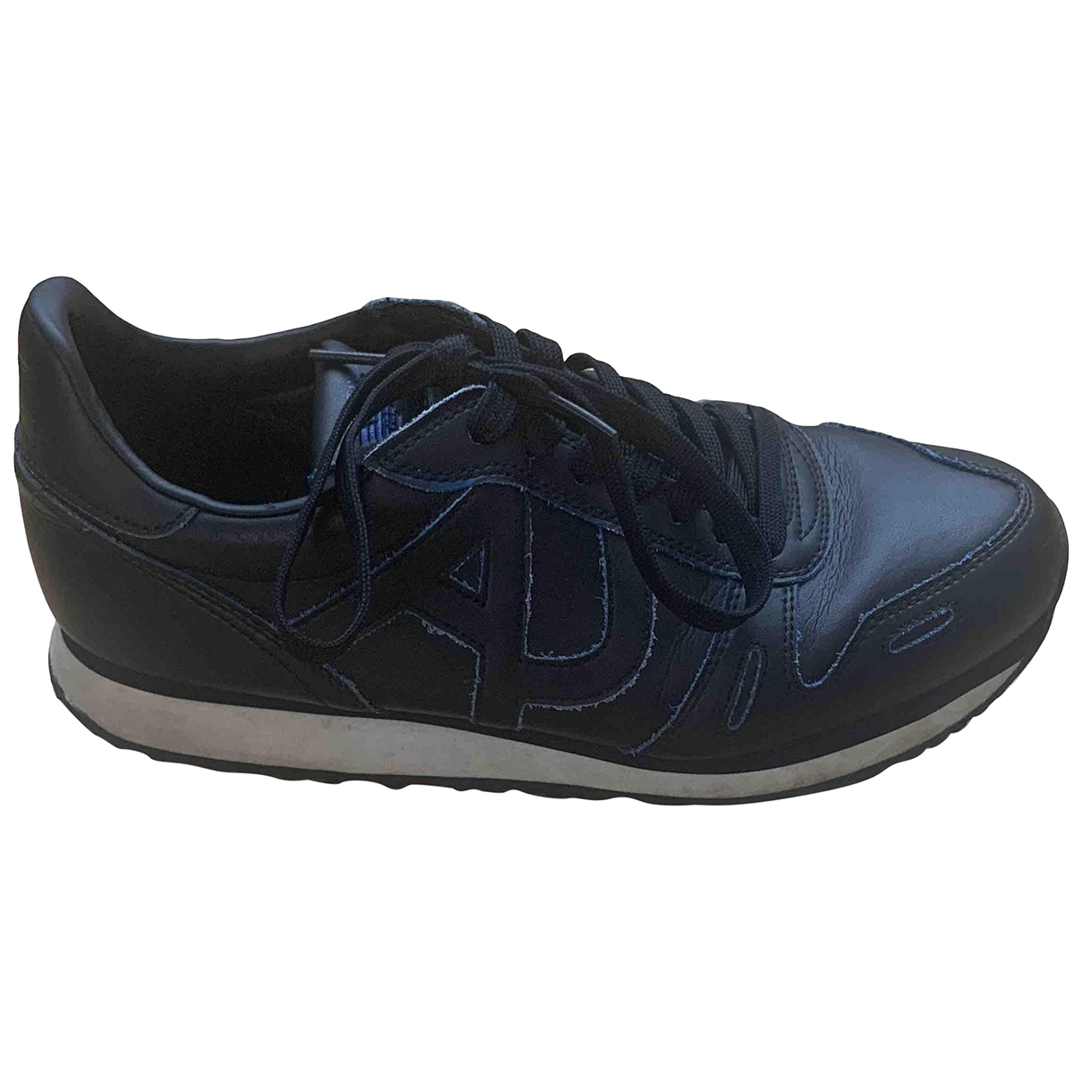 Armani Jeans \N Black Leather Trainers for Men 42 EU