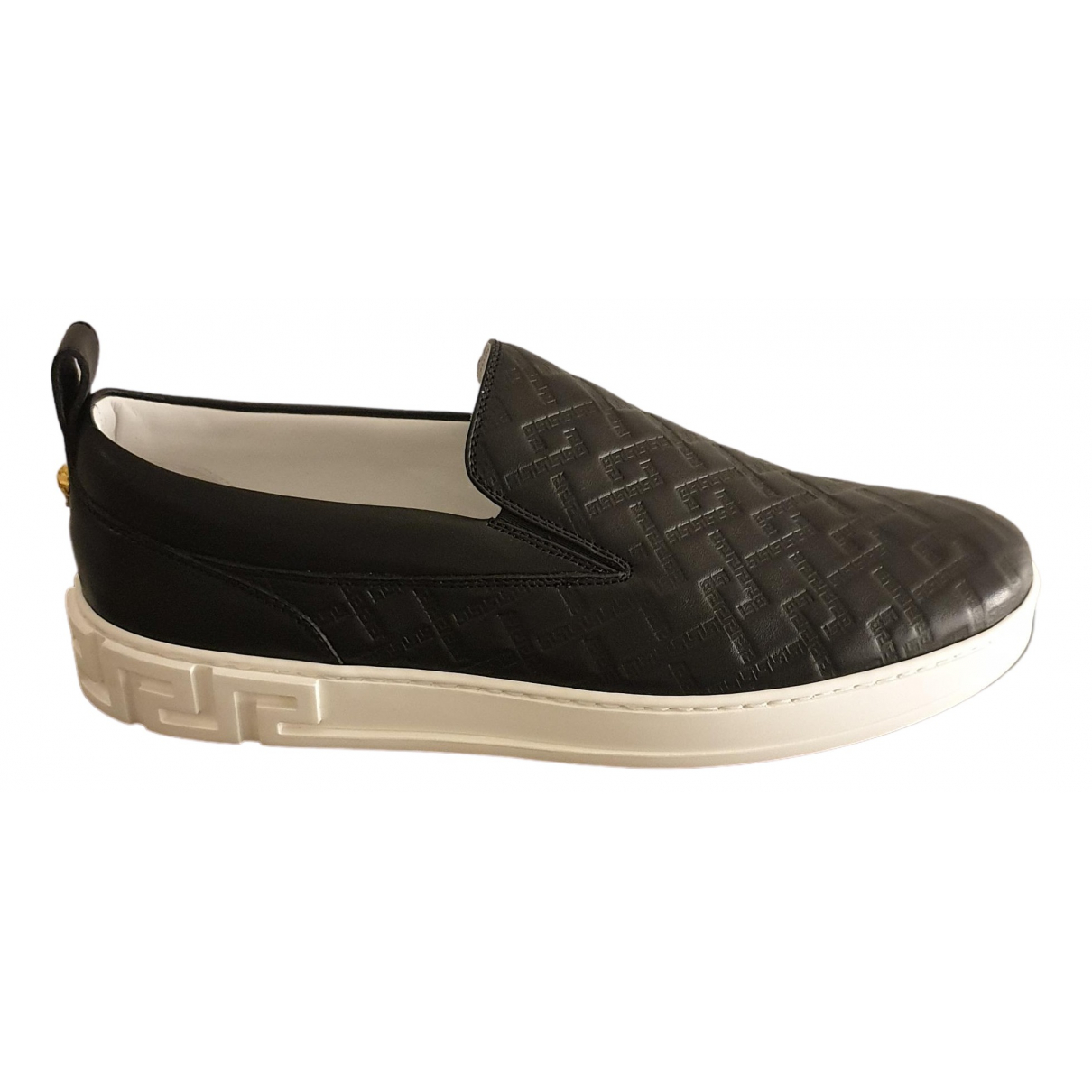 Versace \N Black Leather Trainers for Men 43.5 EU