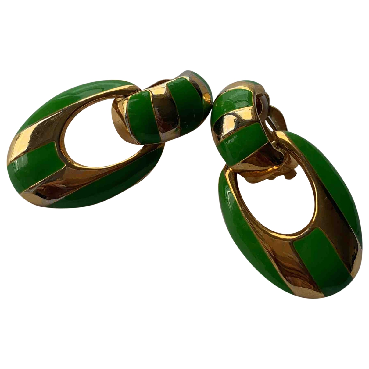 - Boucles doreilles   pour femme en metal - vert