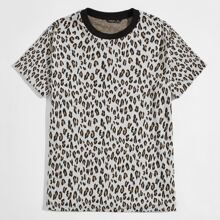 T-Shirt mit Leopard Muster