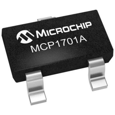 Microchip MCP1701AT-3002I/CB, LDO Regulator, 250mA, 3 V, ±2% 3-Pin, SOT-23A (10)
