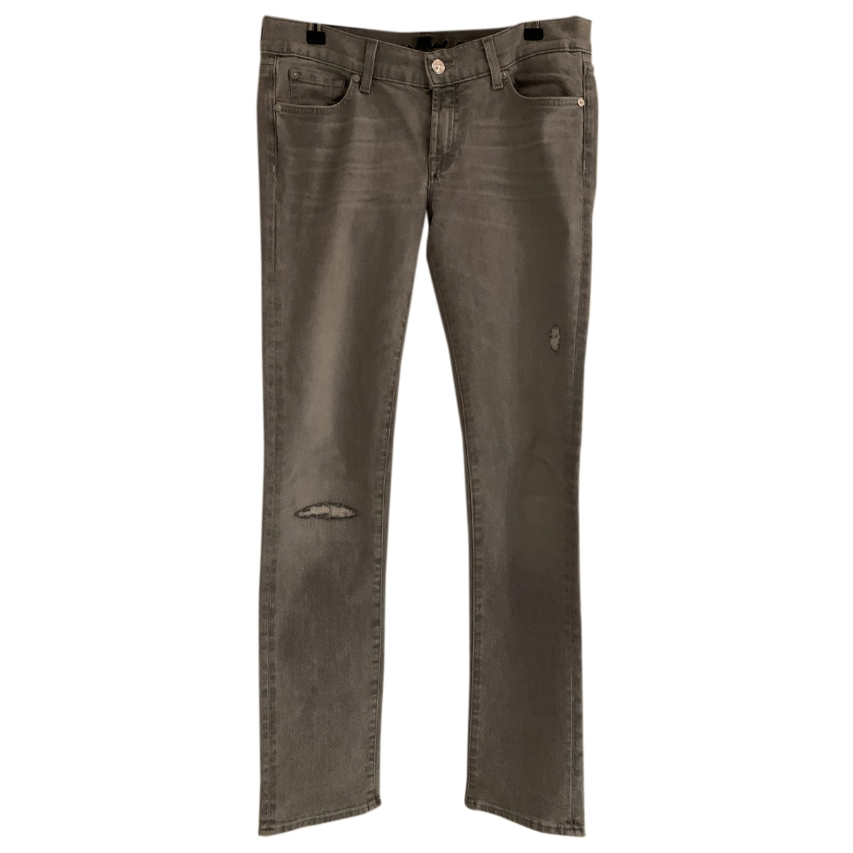 7 For All Mankind \N Grey Denim - Jeans Jeans for Women 38 FR